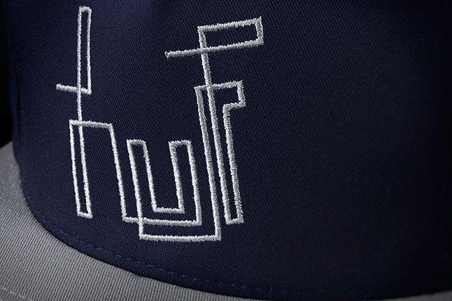 Huf Bennyg Etchasketch Logo Snapback Navy Detail 1