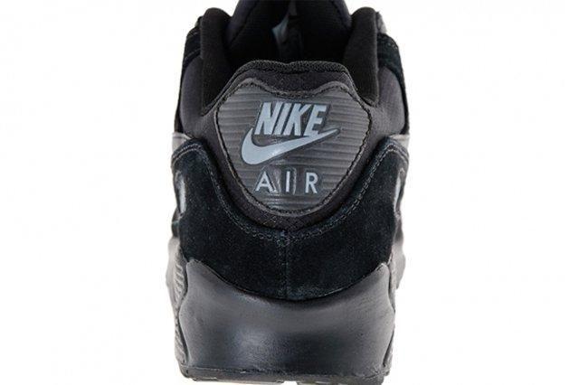 Nike Air Max 90 Suede Black Heel