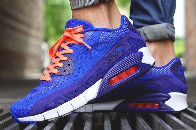 Nike Air Max 90 Breathe (Deep Royal/Hyper Cobalt) - Sneaker Freaker