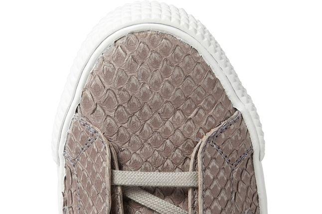 Jimmy Choo Snakeskin Leather High Top Sneaker Toebox 1