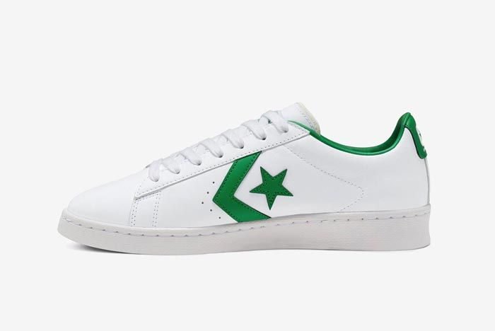 Converse Pro Leather Ox Green Medial