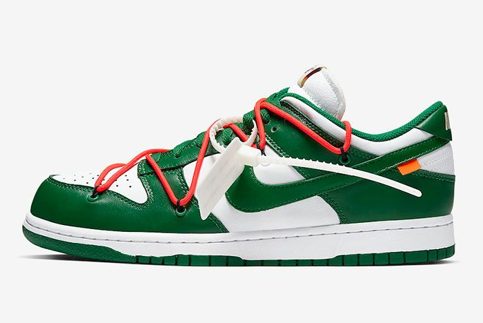 Off White Nike Dunk Low White Green Ct0856 100 Lateral