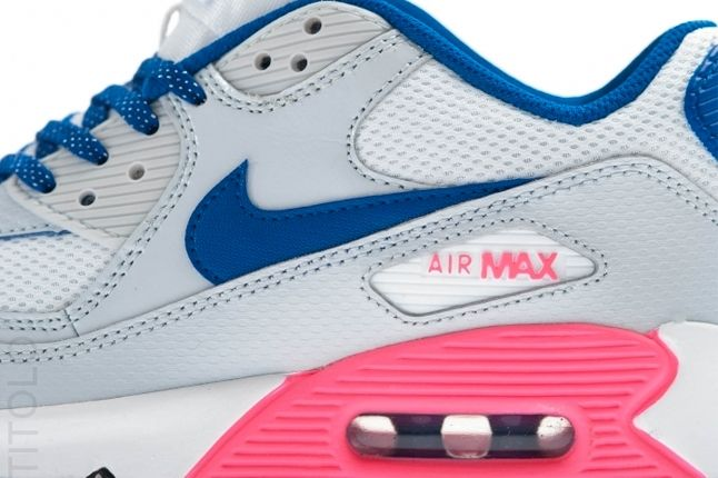 Nike Air Max 90 Gs 2007 Hyperblue Digipink Midfoot Detail 1
