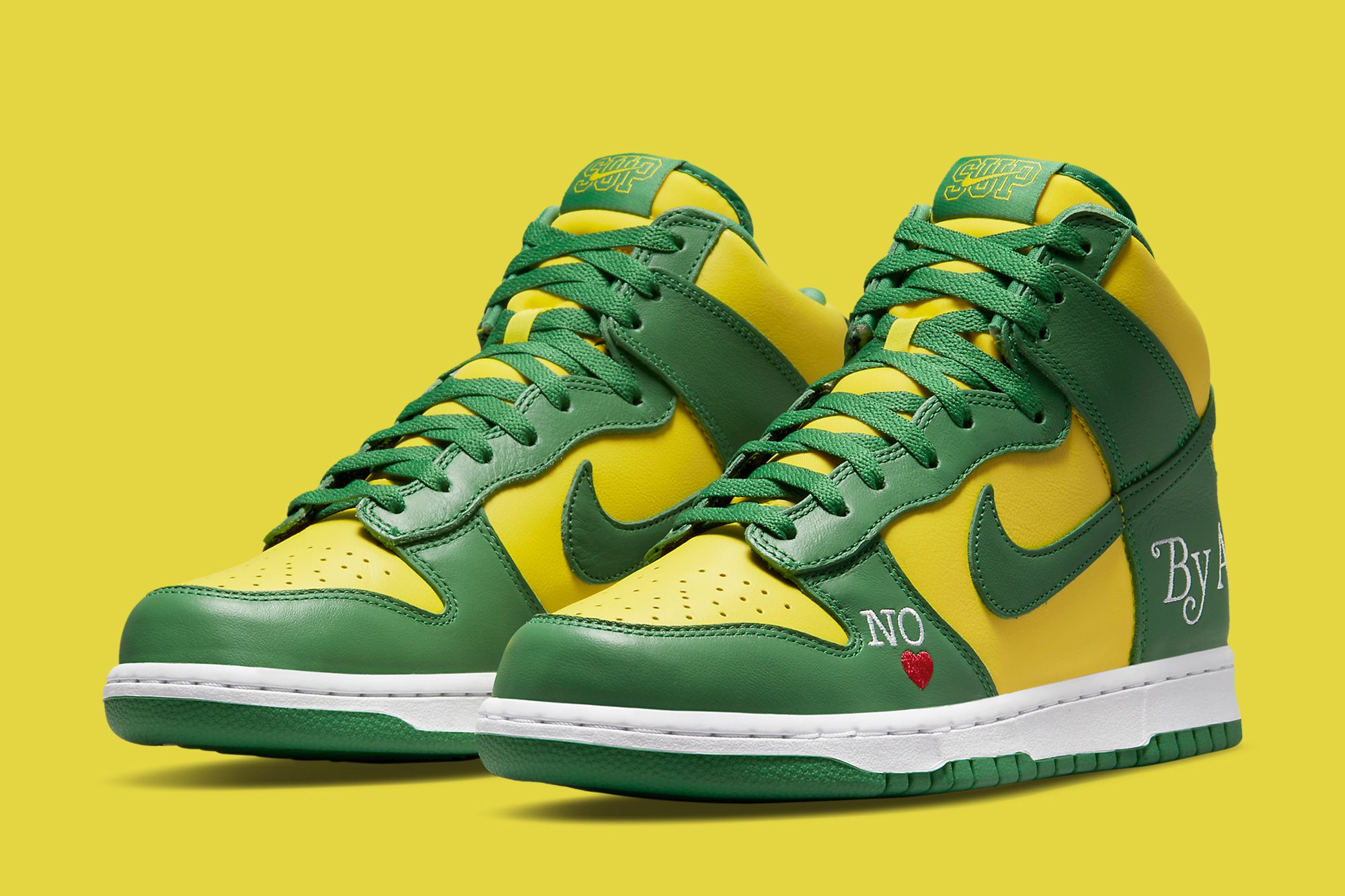 Supreme x Nike SB Dunk High 'Brazil' Official Images