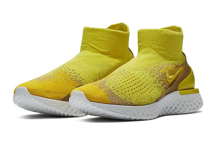 Nike Rise React Flyknit Yellow 1