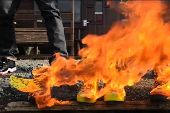 Los Hacheros Jeremy Scott Shoes Fire Promo 1