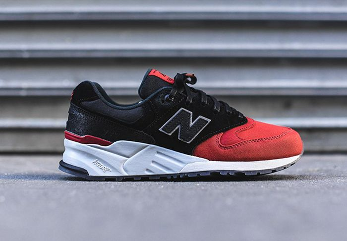 New Balance 999 Black Red Toe Feature