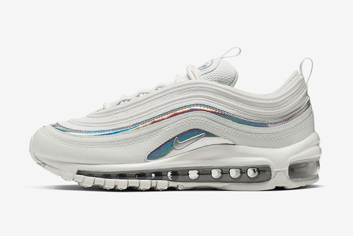 Nike Air Max 97 White Silver Iridescent Cj9706 100 Release Date Side8