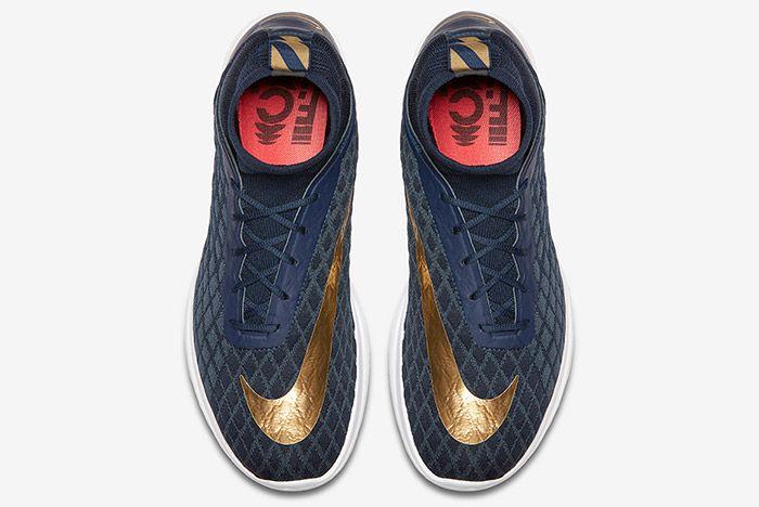 Nike Free Hypervenom Iii Flyknit Navy Blue Gold 3