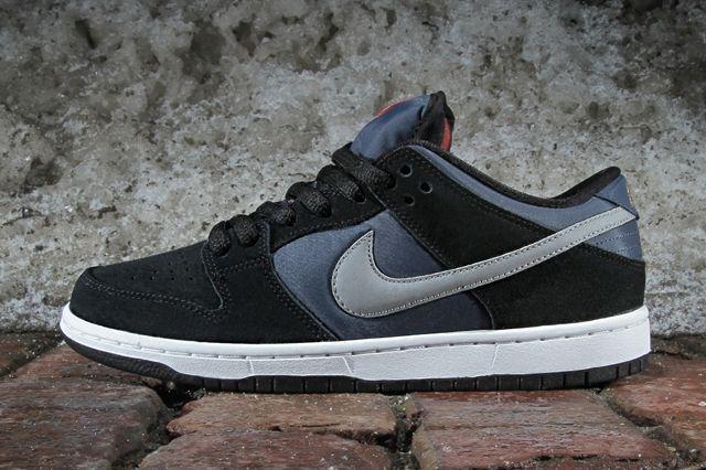 Nike Sb Dunk Low Pro Black New Slate Reflective