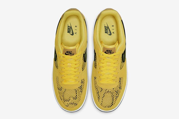 Nike Air Force 1 Low Yellow Snakeskin Bq4424 700 Top