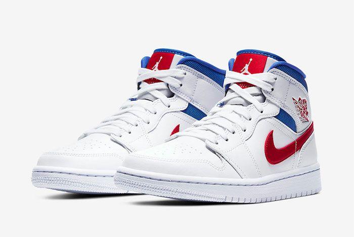 Air Jordan 1 Mid American Flag Toe