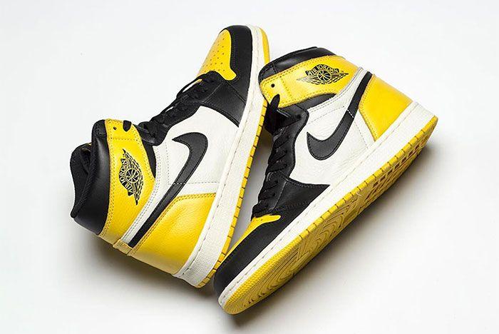 Air Jordan 1 Yellow Toe Left And Right 1