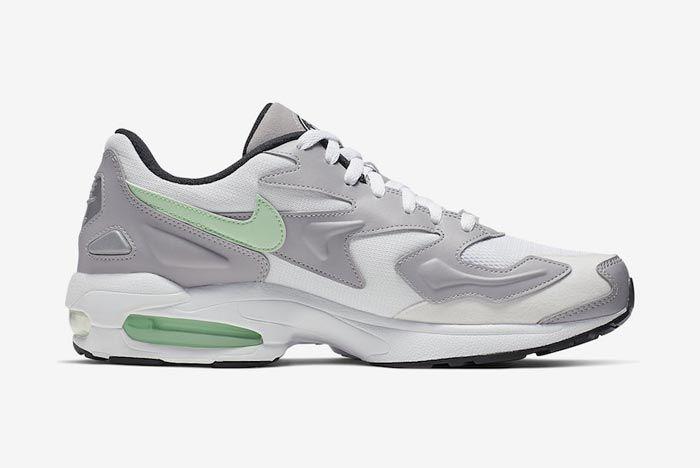 Nike Air Max2 Vast Grey Fresh Mint Medial