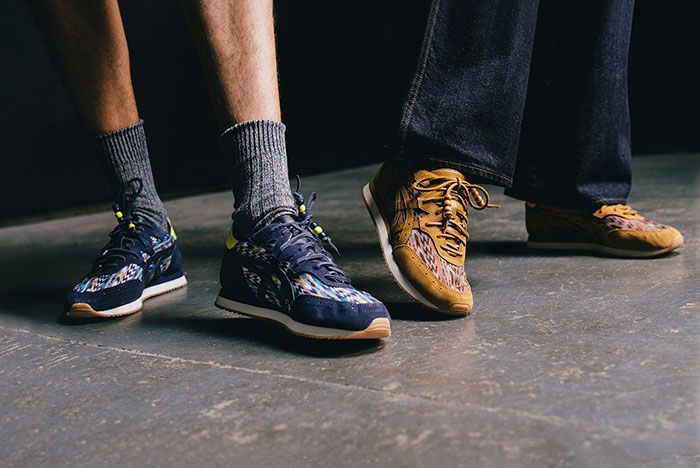 Ymc Asics Tarther Og Midnight Caramel On Foot