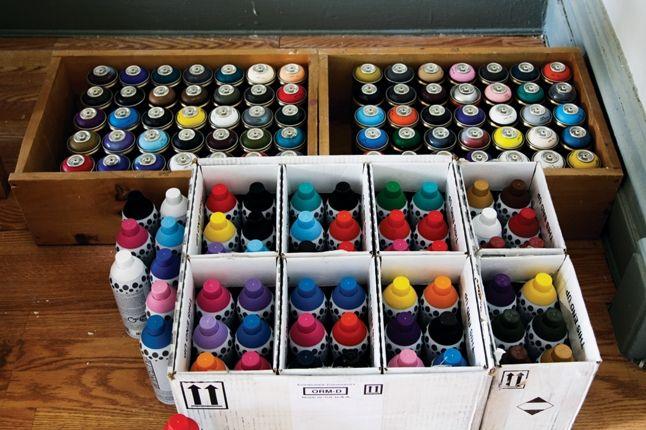 Futura For Hennessy Spray Paints 1