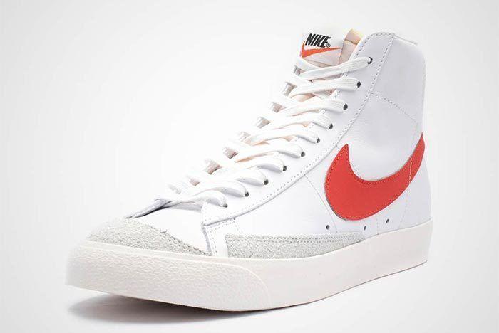 Nike Blazer Mid Vintage 77 Red White Front Shot 4