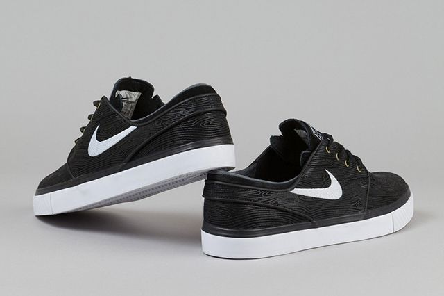 Nike Zoom Stefan Janoski Woodgrain Black White 6