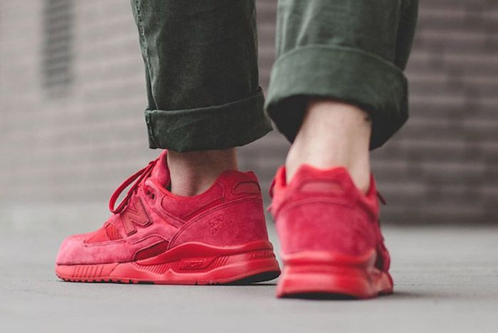 New Balance 530 Red Suede 2