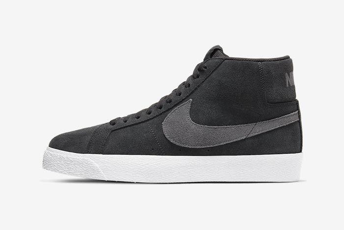 Nike Sb Blazer Black Grey Lateral