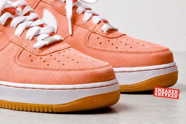 Nike Air Force 1 Low Suede Salmon Toe Detail