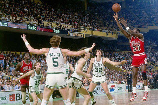 Jordan Shooting Against Celtics 1