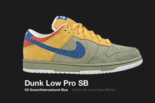 Nike Dunk Low Sb Oil Green International Blue 2006 1
