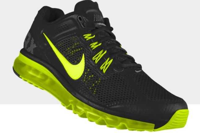 Nikeid Air Max Black Volt Side 1