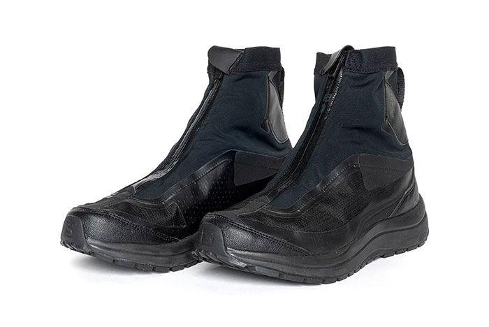 11 By Boris Bidjan Saberi X Salomon Spring Summer 2020 Footwear Black Lateral Three Quarter Angled Side Shot