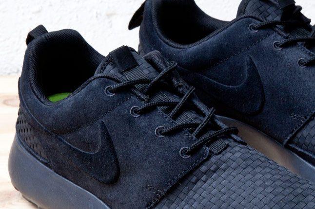 Nike Roshe Run Woven Blk Detailk 1