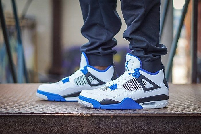 Air Jordan 4 Motorsport On Foot