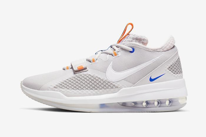 Nike Air Force Max Low Greys Blue Orange Lateral