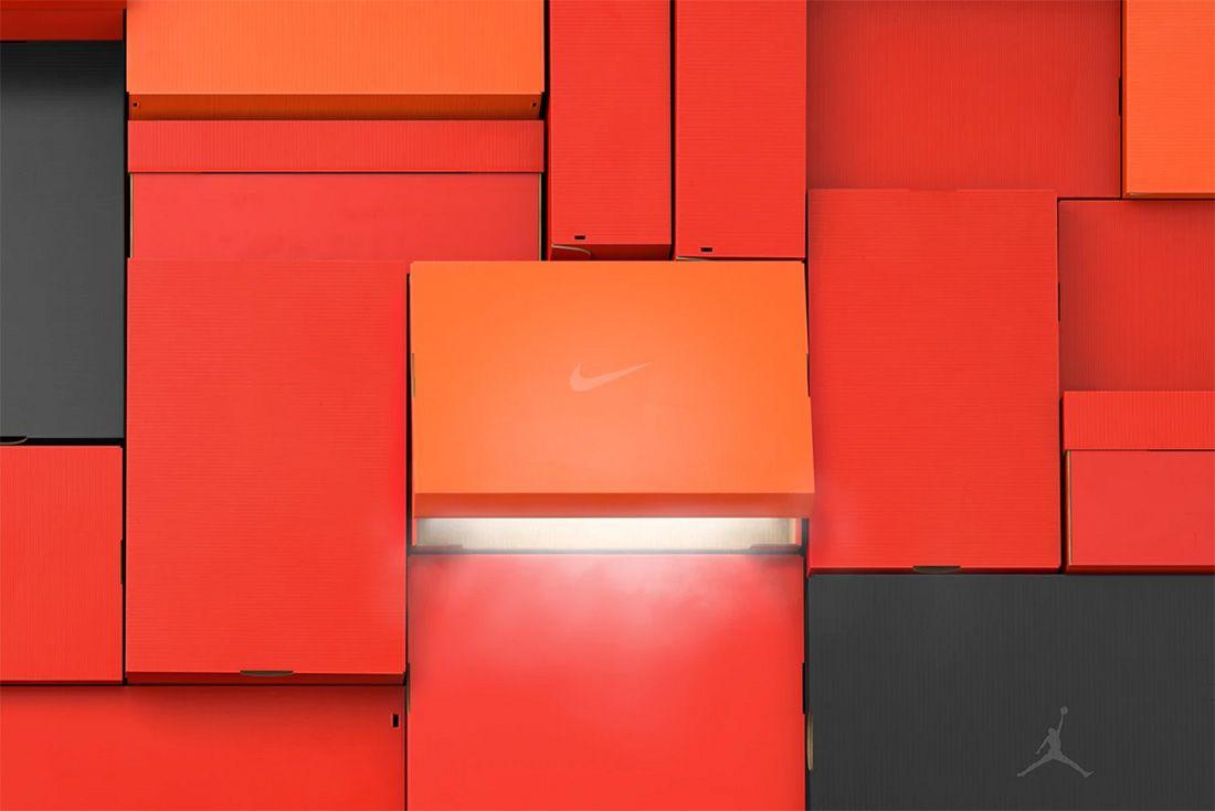 sneaker box wall