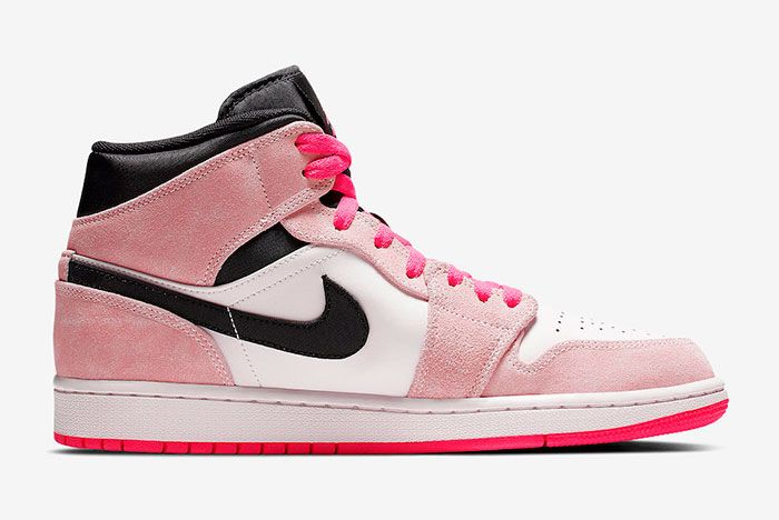 Air Jordan 1 Mid Crimson Tint Hyper Pink 852542 801 Release Date 2 Medial Side Shot