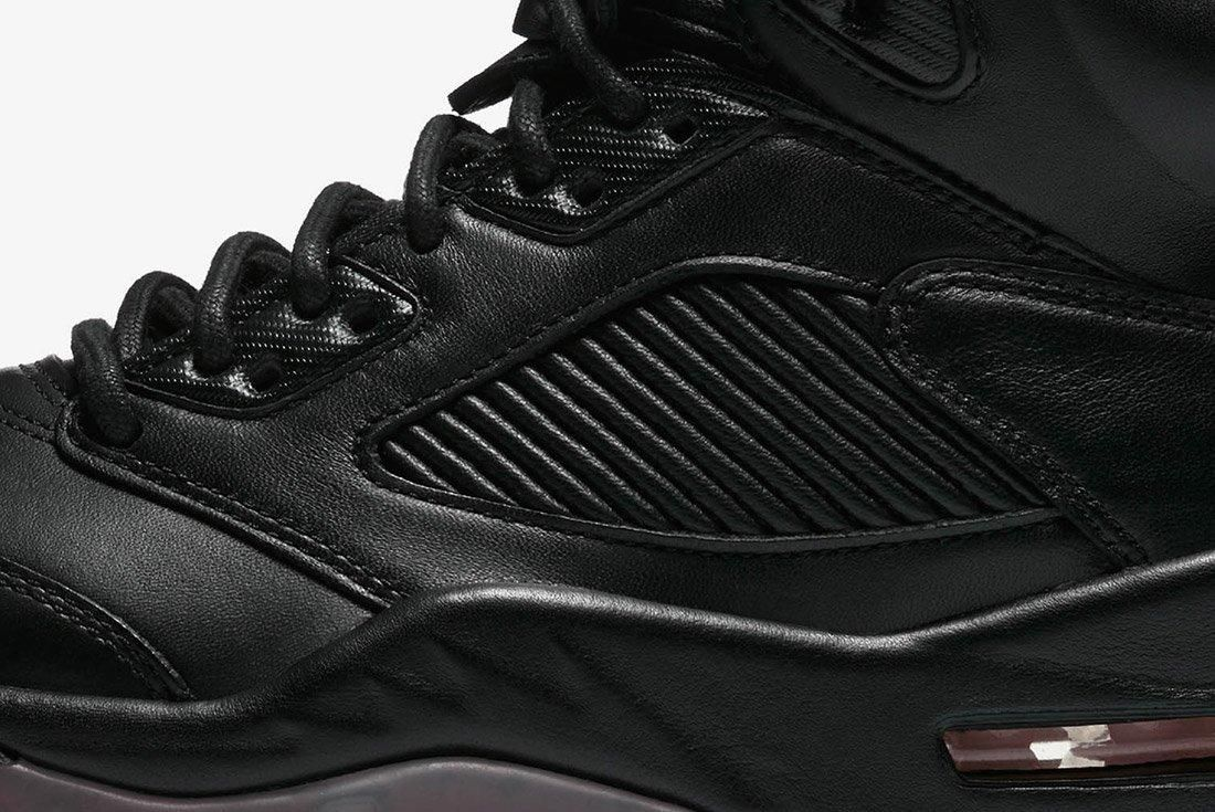 Air Jordan 5 Premium Triple Black Leather 7