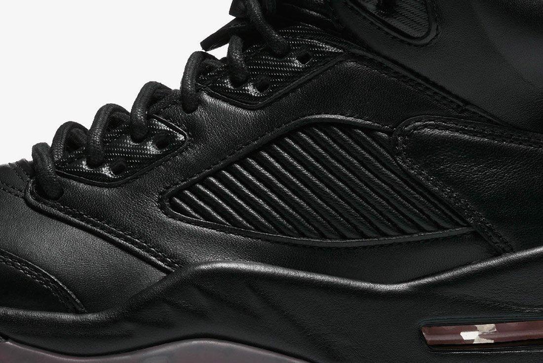Air Jordan 5 Premium Triple Black Leather 7