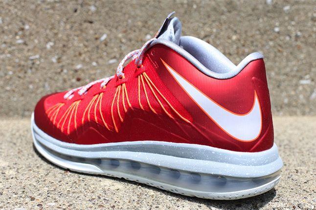 Nike Lebron Low University Red Heel 1