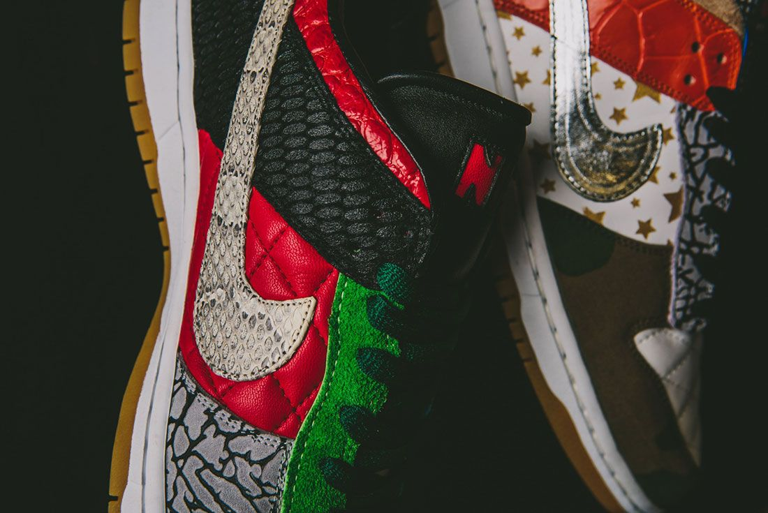 Bespokeind Nike Sb Dunk Low Pro What The Supreme Up Close4