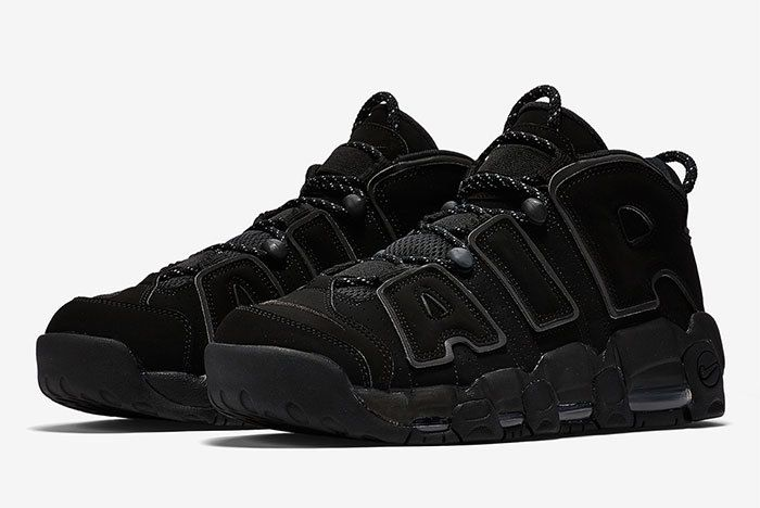 Nike Air More Uptempo Triple Black 1