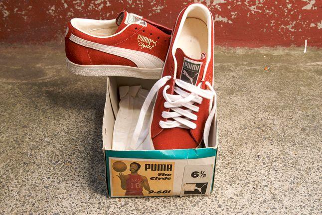 Puma Clyde Red Suede 1
