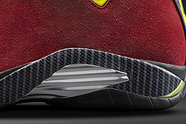 Air Jordan Xiv Red Suede Closeup3