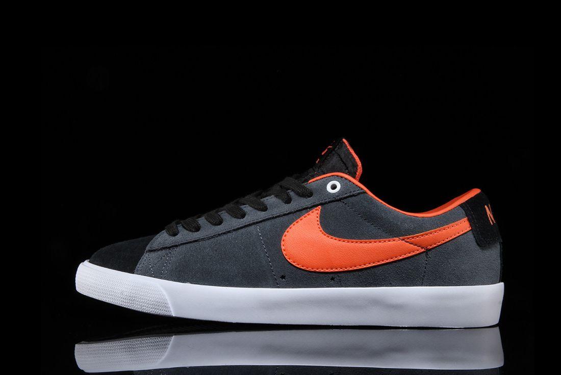 Nike Sb Blazer Low Gt Anthracite Turf Orange 6