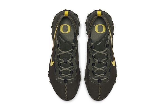 Nike React Element 55 Oregon Fighting Ducks Release Date Top Down
