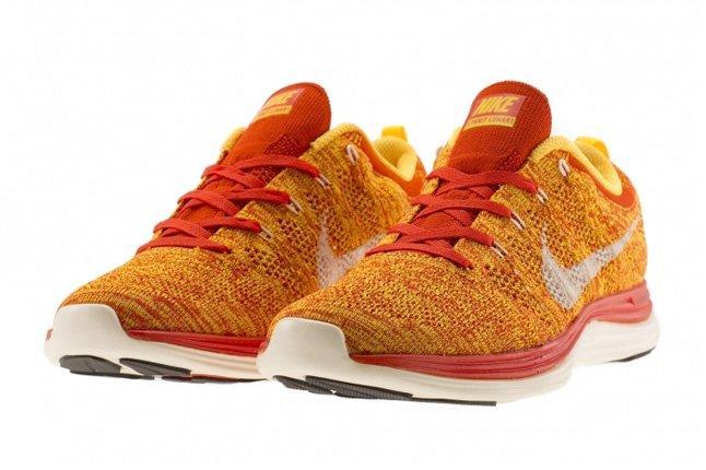 Nike Flyknit Lunar 1 Team Orange 1