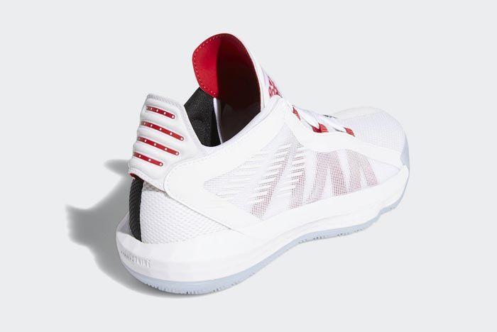 Adidas Dame 6 Cloud White Scarlet Black Back