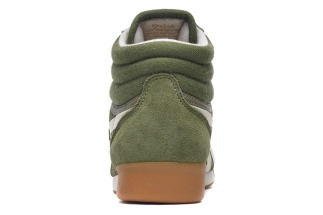 Reebok Freestlehi Suede Green Heel Profile 1