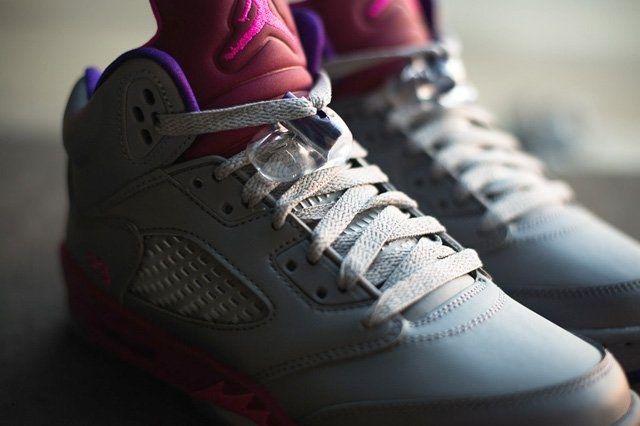 Air Jordan 5 Cement Raspberry 2