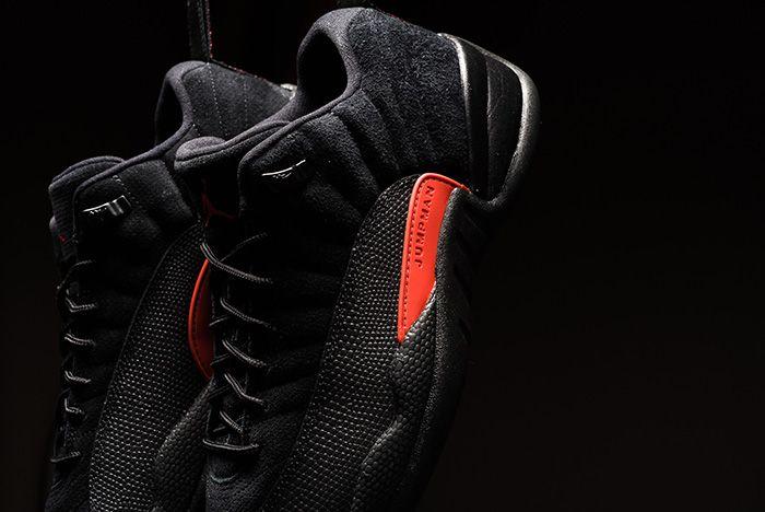 Air Jordan 12 Low Black Max Orange 8