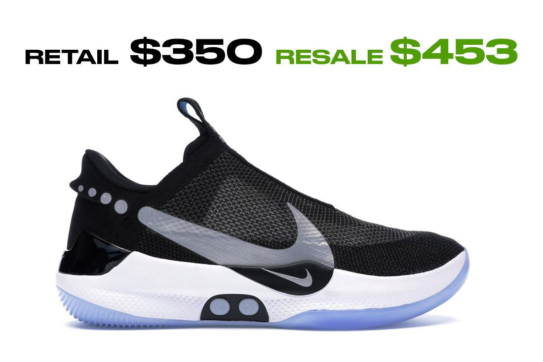 Nike Adapt Bb Black Pure Platinum Us Charger Right Side Shot