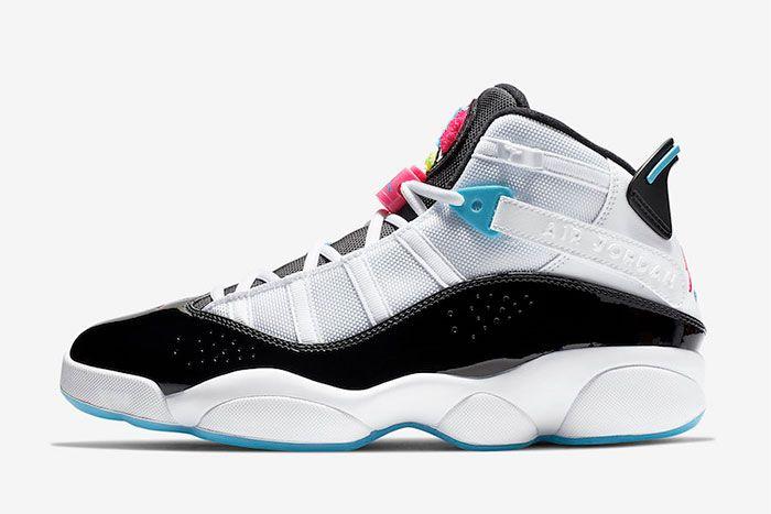 Jordan 6 Rings White Hyper Pink Light Blue Fury Left